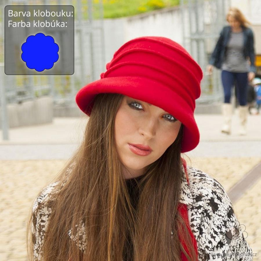 b5e478ed074 Dámský vlněný klobouk se sámky Jako v peřince