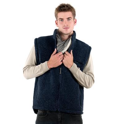 067db5a353b Pánská vesta Sport z ovčí vlny Merino tmavě modrá Jako v peřince