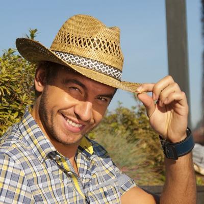 Karpet pánský klobouk slaměný kovboj